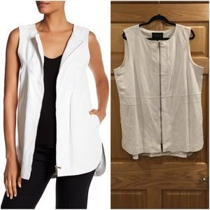 Lafayette 148 NY Athena Embossed real Leather Vest